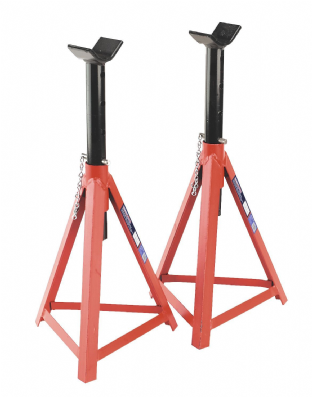 Sealey AS3000 Axle Stands (Pair) 2.5 Tonne Capacity per Stand Medium Height